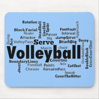 Volleyball Word Cloud Mouse Pads