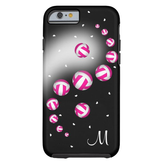 volleyball yin yang ANY COLOR w monogram Tough iPhone 6 Case