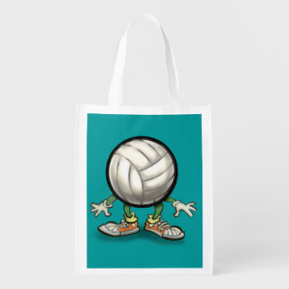 Volleyball Reusable Grocery Bag