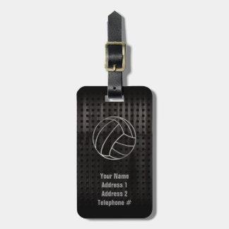 Volleyballl; Cool Black Bag Tag