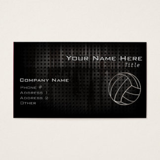 Volleyballl; Cool Black Business Card