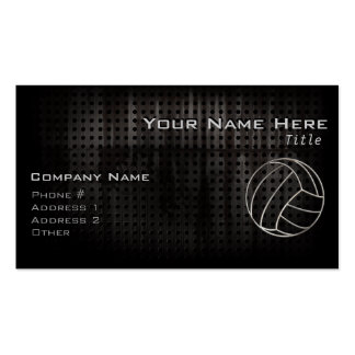Volleyballl; Cool Black Double-Sided Standard Business Cards (Pack Of 100)