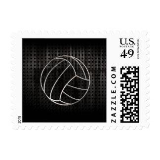 Volleyballl; Cool Black Stamp