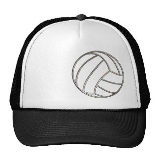 Volleyballl; Cool Black Trucker Hat