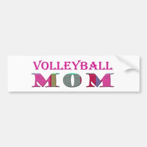 VolleyballMom Bumper Sticker