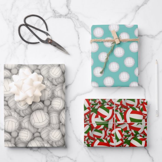 volleyballs pattern Christmas or any occasion Wrapping Paper Sheets