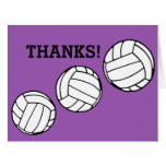 Volleyballs Thanks Coach Personalized Color Card