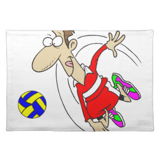 VOLLEYBOY RED PLACEMAT