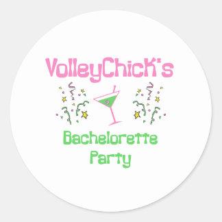 VolleyBride Bachelorette Classic Round Sticker