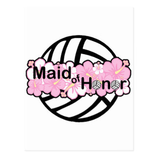 VolleyBride Maid of Honor Postcard