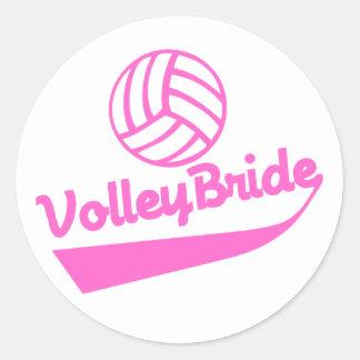 VolleyBride Swoosh Classic Round Sticker