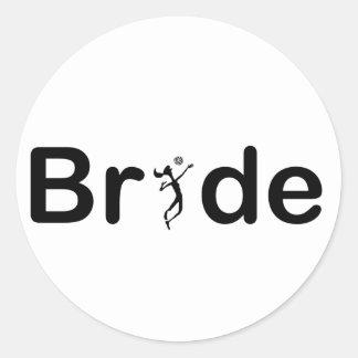 VolleyBride Text Classic Round Sticker