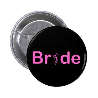VolleyBride Text Pinback Button