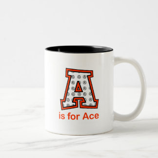 VolleyChick A is for Ace Two-Tone Coffee Mug
