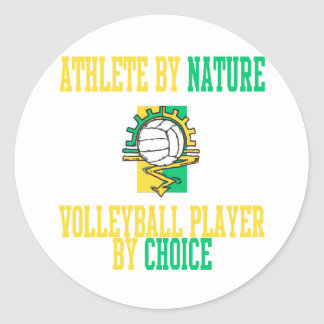 VolleyChick Athlete by Nature Classic Round Sticker
