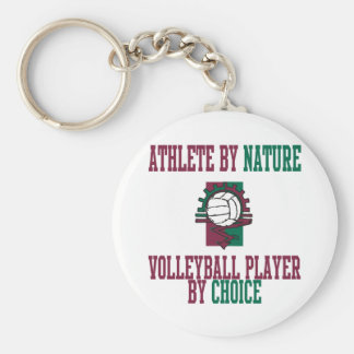 VolleyChick Athlete by Nature Keychain