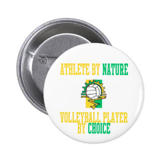 VolleyChick Athlete by Nature Pinback Button