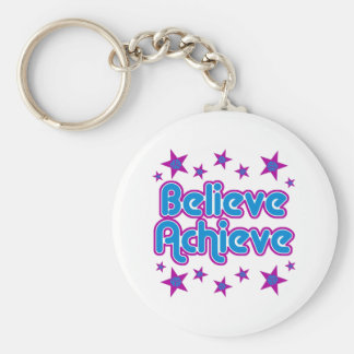 VolleyChick Believe Achieve Keychain