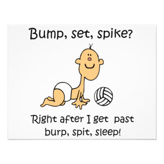 VolleyChick Bump Set Spike Personalized Invites