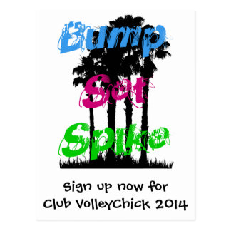 VolleyChick Bump Set Spike Post Cards