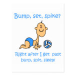 VolleyChick Bump Set Spike Postcard