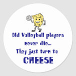VolleyChick Cheese Classic Round Sticker