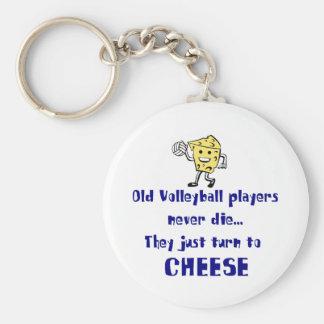 VolleyChick Cheese Keychain