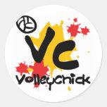 VolleyChick Croobie Round Stickers