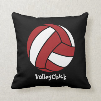 VolleyChick (customizable) Throw Pillow