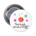 VolleyChick Deck the Halls Pin