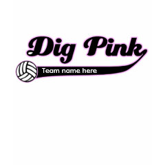 VolleyChick Dig Pink shirt
