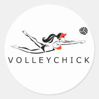 VolleyChick DiveChick 2010 Pegatina Redonda