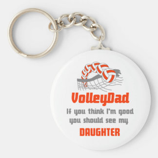 VolleyChick Family You should see Dad/Daughter Keychain