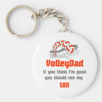 VolleyChick Family You should see Dad/Son Keychain