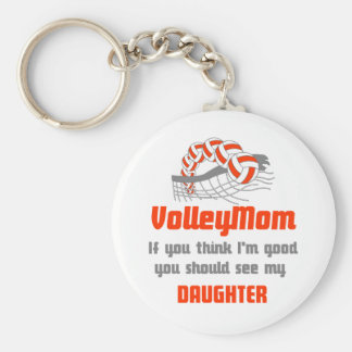 VolleyChick Family You should see Mom/Daughter Keychain