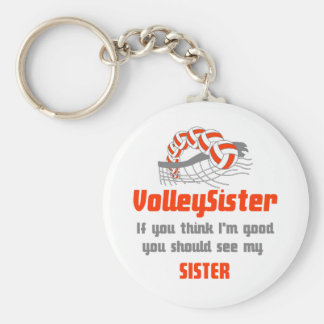 VolleyChick Family You should see Sister/sister Keychain