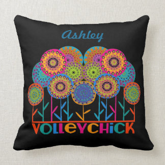 VolleyChick Fleur Throw Pillow