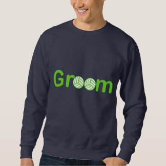 VolleyChick Groom Text Sweatshirt