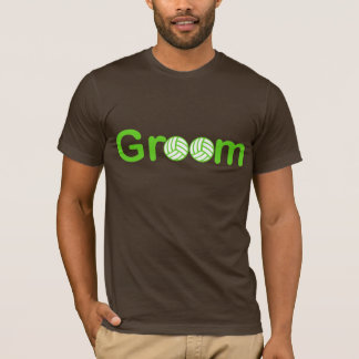 VolleyChick Groom Text T-Shirt