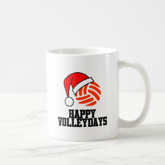 VolleyChick Happy Volleydays Santa Ball Coffee Mug