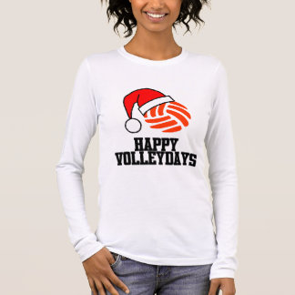 VolleyChick Happy Volleydays Santa Ball Long Sleeve T-Shirt