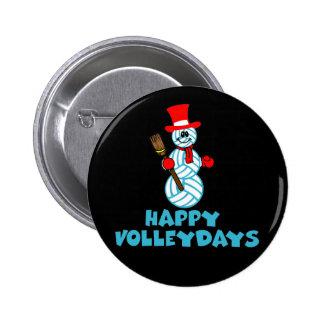 VolleyChick Happy VolleyDays Snowman Buttons