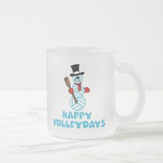 VolleyChick Happy VolleyDays Snowman Mugs