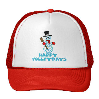 VolleyChick Happy VolleyDays Snowman Trucker Hat