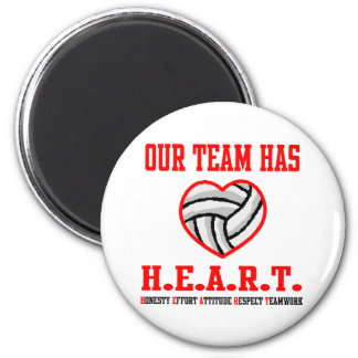 VolleyChick Heart Magnet