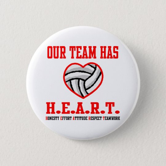 VolleyChick Heart Pinback Button