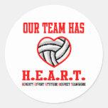 VolleyChick Heart Sticker