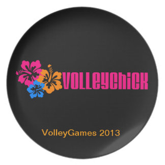 VolleyChick Hibtastic Dinner Plate