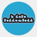 VolleyChick I Love Volleyball ASL Round Sticker