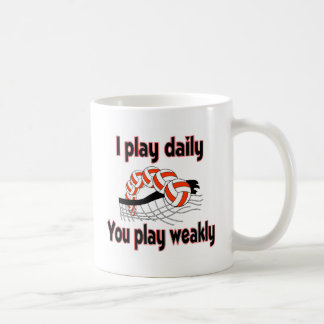VolleyChick I Play Daily Coffee Mugs